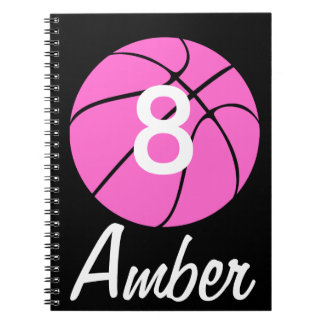 Custom Pink Basketball Notebooks