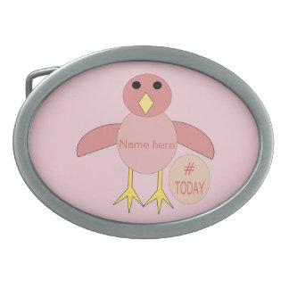 Custom Pink Birthday Girl Chick Belt Buckle