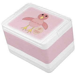 Custom Pink Birthday Girl Chick Can Cooler Igloo Cooler