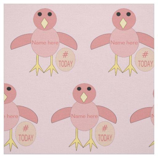 Custom Pink Birthday Girl Chick Craft Fabric