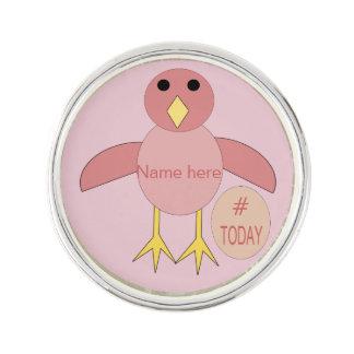Custom Pink Birthday Girl Chick Lapel Pin