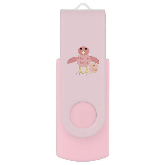 Custom Pink Birthday Girl Chick USB Drive