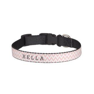 Custom Pink Chevron Dog Collar