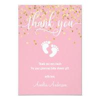 Baby girl baby shower invitations custom pink gold thank you baby shower girl filmwisefo