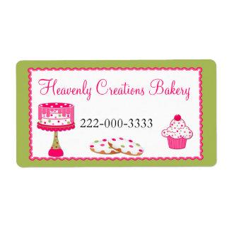 Custom Pink & Green Bakery Label