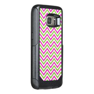 Custom Pink & Green Zigzag Chevron Pattern OtterBox Samsung Galaxy S7 Case