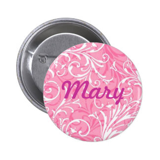 Custom Pink Ornamental Button