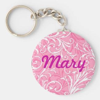 Custom Pink Ornamental Key Chain