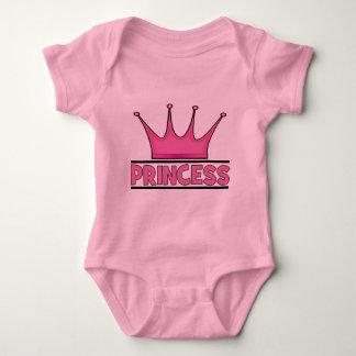 Custom Pink Princess Baby Bodysuit