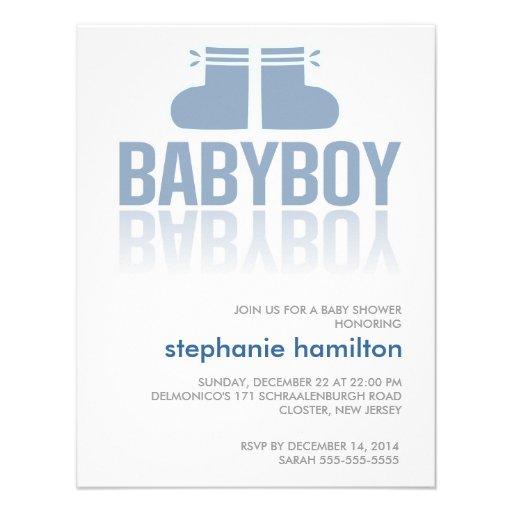 Custom pink socks baby boy gradient custom announcements