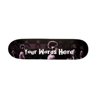 Custom Pink X-Ray Skeletons Midnight Stroll Skate Board Decks
