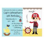 Custom Pirate Boy Birthday Party Personalized Invitations