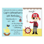 Custom Pirate Boy Birthday Party Personalized Invitations