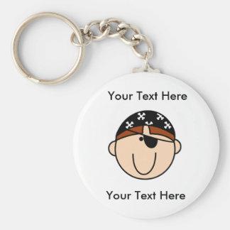 Custom Pirate Red Keychain