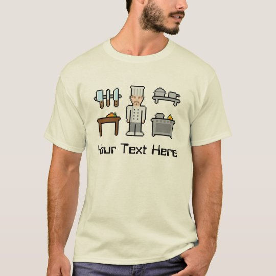 Custom Pixel Chef T-Shirt