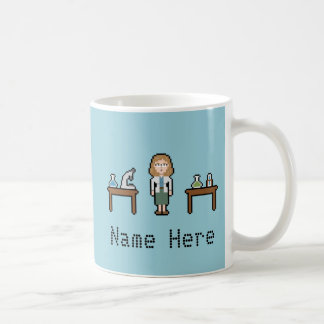 Custom Pixel Female Scientist Coffee Mug