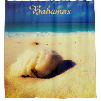Custom Place/Tropical Beach Shower Curtain