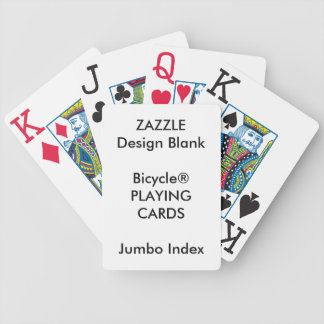 Custom Playing Cards Bicycle® JUMBO INDEX