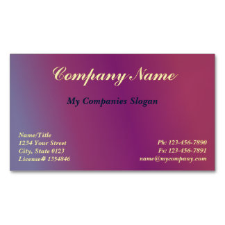 Custom Plum 2 Gradient Magnetic Business Card
