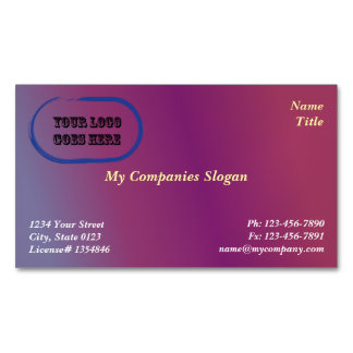 Custom Plum 2 Gradient Magnetic Business Card Magnetic Business Cards
