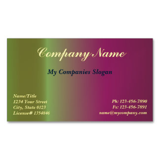 Custom Plum Gradient Magnetic Business Card Magnetic Business Cards