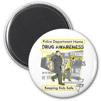 Custom Police Drug Awareness Magnet