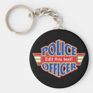Custom Police Officer Key Ring