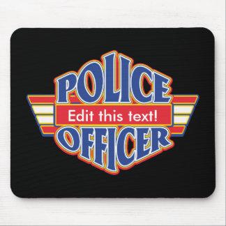 Custom Police Officer Mouse Mat