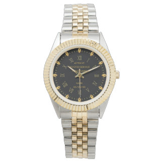 Custom Police Retirement Watch Gold Roman Numerals