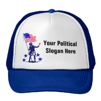 Custom Political Slogan with Patriotic Flag Hats