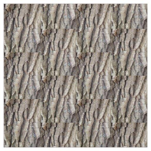 "custom polyester poplin 60"" fabric with wood bark"