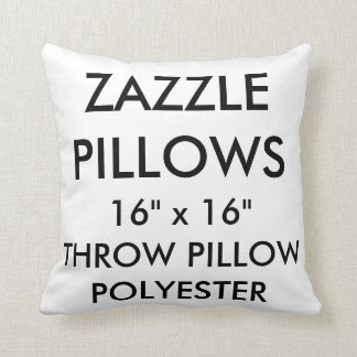 Custom Polyester Throw Pillow Blank Template
