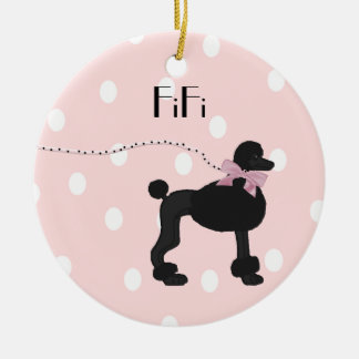 Custom Poodle ornament