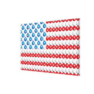 Custom Pool Ball American Flag Gallery Wrapped Canvas