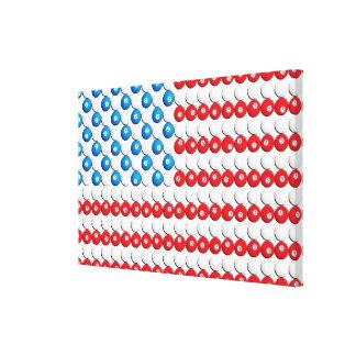 Custom Pool Ball American Flag Gallery Wrapped Canvas