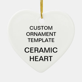 Custom Porcelain Heart Christmas Ornament Template