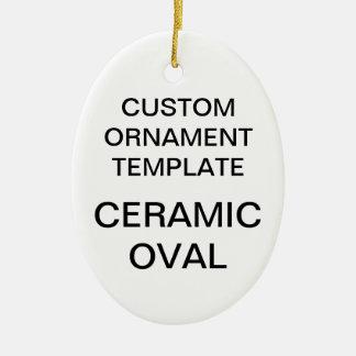 Custom Porcelain Oval Christmas Ornament Template