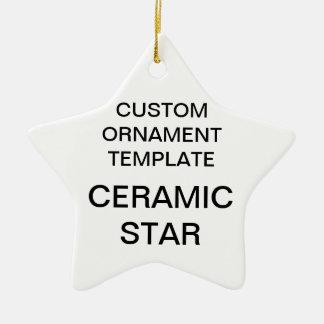 Custom Porcelain Star Christmas Ornament Template