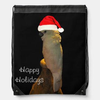 Custom Posing santa holiday Cockatoo bird Rucksack