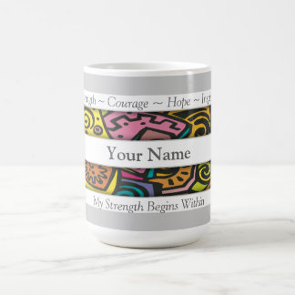 Custom Positive Affirmation Abstract Art Coffee Mug