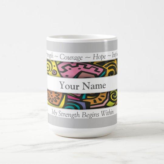 Custom Positive Affirmation Abstract Art Coffee Mug
