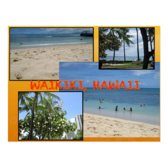 CUSTOM POSTCARDS- HAWAII COLLAGE# 2 POSTCARD