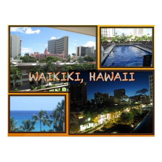 CUSTOM POSTCARDS- HAWAII COLLAGE# 6 POSTCARD