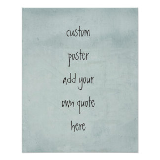 custom poster personalize with your own quote