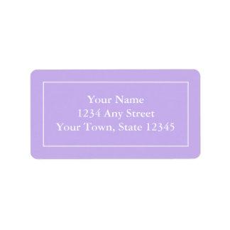 Custom Pre-addressed Purple Mailing Label Stickers Address Label