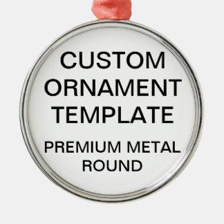 Custom Premium Round Christmas Ornament Template