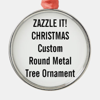 Custom Premium Round Christmas Tree Ornament