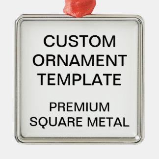 Custom Premium Square Christmas Ornament Template