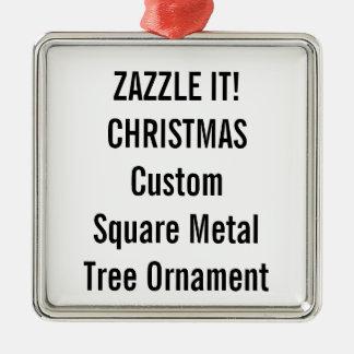 Custom Premium Square Christmas Tree Ornament