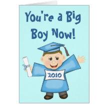 Custom Preschool / Kindergarten Boy Graduation Greeting Card